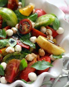 Heirloom Tomato Caprese Salad w  Balsamic Reduction.