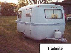 Trailmite. Small Fiberglass trailer model, Canadian boler replica.