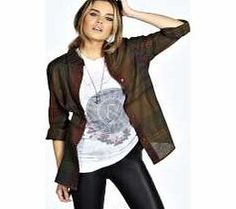 boohoo Kate Oversized Check Shirt - khaki azz20086 Make your top pop this season with sporty, baseball-style basic tees in quilted finishes with ribbed, stripe trims. Crew necks come in block colours, crop tops with mesh inserts and long sleeve jersey http://www.comparestoreprices.co.uk/womens-clothes/boohoo-kate-oversized-check-shirt--khaki-azz20086.asp