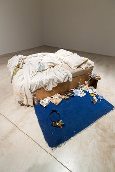Tracey Emin's My Bed on display at Turner Contemporary in Margate, as part of our autumn 2017 season of exhibitions. Turner Contemporary, Contemporary Paintings, Tracey Emin My Bed, Unmade Bed, Queer Art, A Level Art, Art Themes, Bedroom Art, Online Art Gallery