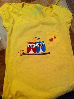 Buhos en camiseta niña