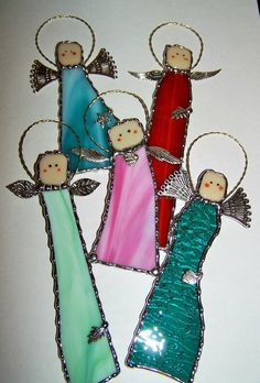 Stained Glass Angel-Angels with Attitude by PineTreeGlassWorks