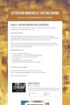Attention Wineries & Tasting Rooms
