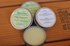 Happy Hands and Feet All Natural Salve by namastenature. Explore more products on http://namastenature.etsy.com
