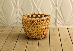 Vintage Bamboo Storage Basket Trash Can Bathroom Kitchen Living Room Rattan Beach Retro Mid Century Boho Retro by RetroSpecList on Etsy https://www.etsy.com/listing/493722002/vintage-bamboo-storage-basket-trash-can