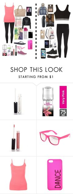 """""""Our dance/Workout Clothes (read d)"""" by christina-cookie ❤ liked on Polyvore featuring Max Factor, New Look and NIKE"""