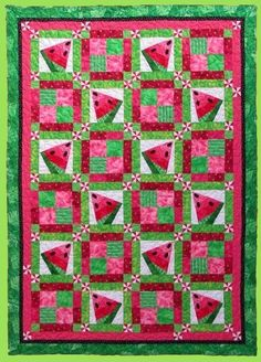 Quilted Frog - Shop | Category: Quilt Patterns | Product: 6006 CRAZY WATERMELON Quilt