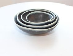 Set of 4 Black Bowls by Andrew Rouse   The Local Vault