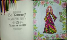 Coloring Book For Adults My Own World Antistress Renebook Purple Lady