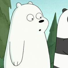 So cute you gotta tilt your head. Ice Bear We Bare Bears, 3 Bears, Bear Gif, Funny Bears, Song Lyrics Wallpaper, Bear Wallpaper, Love Bear, Animated Cartoons, Polar Bear
