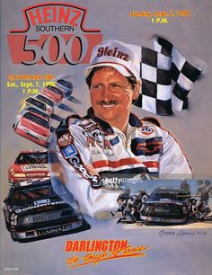 Heinz Southern 500 program cover from Darlington. Get premium, high resolution news photos at Getty Images Real Racing, Auto Racing, Darlington Raceway, Speedway Racing, The Intimidator, Racing Quotes, Nascar Race Cars, Dale Earnhardt Jr, The Man