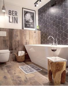 35 Stunning Modern Farmhouse Bathroom Decor Ideas Make You Relax In 2019 - Googodecor Diy Bathroom, Chic Bathrooms, Bathroom Floor Tiles, Bathroom Wall Decor, Bathroom Interior, Master Bathroom, Bathroom Ideas, Bathroom Designs, Bathroom Black