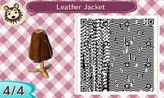 """ambrosiacrossing: """" Leather jacket I made for my mayor for the fall season. I like it a lot! Lemme know if anyone would like a recolor of it and I'll do it for free :3 """""""