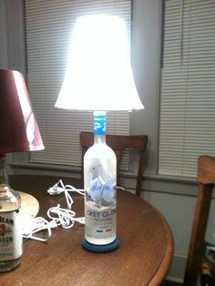 Gray goose lamp