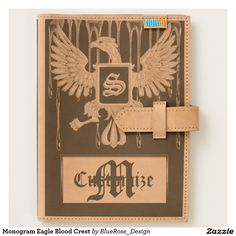 Shop Monogram Eagle Blood Crest 2 Journal created by BlueRose_Design. Leather Notebook, Leather Journal, Moleskine Notebook, Book Journal, Journal Ideas, Invite Your Friends, Leather Accessories, Cow Leather, Ipad Mini