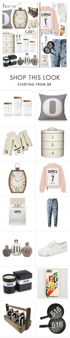 """""""Fashion/Home Numbers Inspired"""" by zogra ❤ liked on Polyvore featuring Jay Import, Brika, Home Decorators Collection, Studio Concrete, Bella Freud, Ashish, GAS Jeans, PB Travel, fashionset and homeset"""