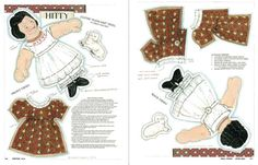 "FREE Hitty Cloth ""Pancake"" Doll to print onto fabric from UFDC Doll News magazine"