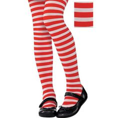 Red and white striped pantyhose Horner can