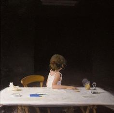 Golucho - Alma y las sombras. Óleo sobre tabla. (98 x 98 cm)