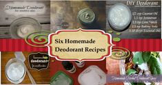 6 homemade deodorant recipes