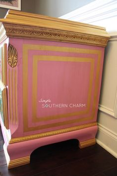 Modern Masters Irisdescent Gold Metallic Paint Highlights on Dresser | Project by Simple Southern Charm