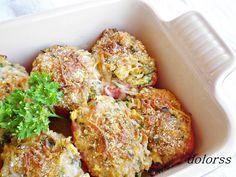 Blog de cuina de la dolorss: Tomates gratinados rellenos de calabacín y atún