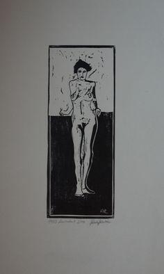 Akt Linolschnitt