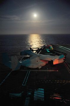 120505-N-AU606-052  ATLANTIC OCEAN (May 5, 2012) A Marine MV-22 Osprey awaits flight testing on the deck of the aircraft carrier USS George H.W. Bush (CVN 77). George H.W. Bush is in the Atlantic Ocean conducting carrier qualifications. (U.S. Navy photo by LTjg Caleb White/Released)