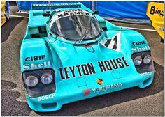 "1987 Kremer ""Leyton House"" #livery #Porsche 962C Group C Car."