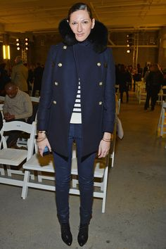 Fashion designer Jenna Lyons attends the Altuzarra fall 2013 fashion show during Mercedes-Benz Fashion Week at Skylight Studio on February 2013 in New York City. Get premium, high resolution news photos at Getty Images Fashion Week, New York Fashion, Look Fashion, Fashion Show, Fashion Brand, Fall Fashion, Charlotte Rampling, Alexa Chung, Twiggy