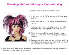 Warnings Before Coloring a Synthetic Wig