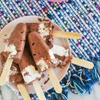 Homemade Fudge Pudding Pops - Style Me Pretty Living