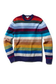 Gap's Lambswool holiday stripe sweater makes a festive gift for that guy on your list. It's perfect for layering under a puffer vest or a sherpa-lined jacket. Mix and match different shades of stripes with Gap's holiday gift guide.