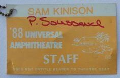 Sam Kinison 1988 Backstage pass