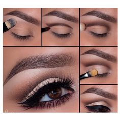 Eye Makeup Tips.Smokey Eye Makeup Tips - For a Catchy and Impressive Look Eyeshadow Tutorial Natural, Hooded Eye Makeup Tutorial, Contouring Tutorial, Natural Eyeshadow, Dark Eyeshadow, Eye Shadow Tutorial, Eye Makeup Tutorials, Eyeshadow Palette, Cut Crease Eyeshadow