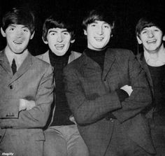 The Beatles At the Doncaster Gaumont, 10 December 1963.Scan from Beatles Book Monthly No. 7.