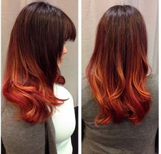 Fire ombré from brown to red.