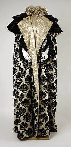 Edwardian- Evening mantle House of Worth (French, 1858–1956) Date: late 1890s Culture: French Medium: silk Dimensions: Length at CB: 61 1/2 in. (156.2 cm) Credit Line: Gift of Mrs. Theodore D. Robinson, 1951