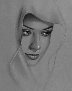 Portrait Drawing Inpspire an artist in you! Skeching by artist Portrait Au Crayon, Pencil Portrait, Portrait Art, Woman Portrait, Pencil Art Drawings, Realistic Drawings, Art Drawings Sketches, Drawing Art, Drawing Ideas
