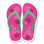 These flip-flop magnets are perfect for that girl who just loves the beach!