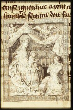 Philip the Good, Duke of Burgundy, kneeling before Mary holding the Christ-child | Follower of Jean le Tavernier