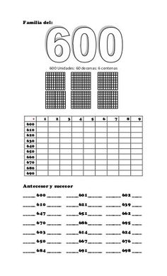 Brojevi do 1000 Teaching Math, Teaching Resources, Free Printable Numbers, Hand Reflexology, Math For Kids, Place Values, Math Lessons, Pre School, Decimal