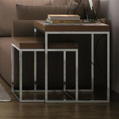 from Joss & main Skandinavisch Modern, Small End Tables, Contemporary End Tables, Nesting Tables, Joss And Main, Decoration, Table Settings, Interior Design, Designer
