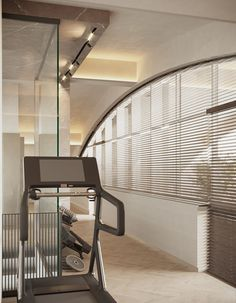 Hotel Gym, Interior Architecture, Interior Design, At Home Gym, Blinds, Curtains, Bedroom, Digital Art, Behance