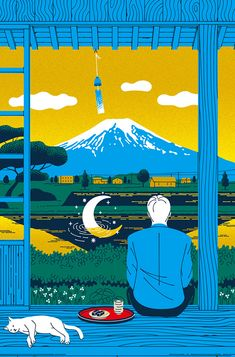 In collaboration with Monocle and The Government of Japan, Kouzou Sakai has created a series of advertorial pieces, published in Monocle magazine: Issue Exploring the theme 'Home from Home: Living in Japan', Kouzou brings a great sense of vibrancy an… Japan Illustration, People Illustration, Graphic Illustration, Japan Kawaii, Japan Icon, Japan Landscape, Posca Art, Architecture Art Design, Fashion Architecture