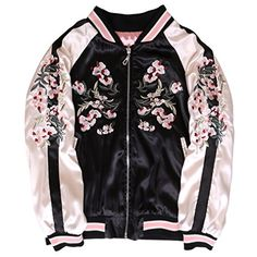 WDPL Women's Embroidery Floral Tennis Jacket Coat Sports…