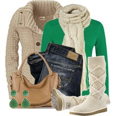 A fashion look from January 2015 featuring Kafé Stigur cardigans, Planet sweaters and UGG Australia boots. Browse and shop related looks.