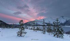 Fire sky  Lilandvatn steigen commune northern norway  Camera: Nikon D750 Lens: Nikon 14-24 /2.8 Info: 24mm, 200iso, 1/6 sec, F8,, 2 compose  #Landscape ... - marcus de roos - Google+