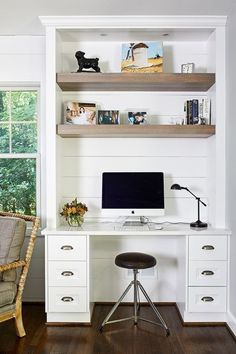 Modern Farmhouse Style Shiplap Ideas Home Office Ideas Farmhouse Ideas Modern sh. - Modern Farmhouse Style Shiplap Ideas Home Office Ideas Farmhouse Ideas Modern shiplap Style - Home Office Layouts, Home Office Setup, Home Office Space, Home Office Desks, Office Ideas, Office Designs, Home Office Furniture Design, Office Nook, Desk Nook