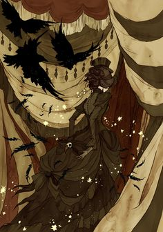 The Night Circus Art Print by Abigail Larson (prints available via Society6.com)
